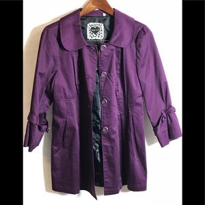 HeartSoul Jackets & Coats - Heart Soul Purple Trench Coat Jacket XL